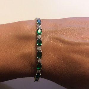 JTV Green Chrome Diopside Bolo Bracelet
